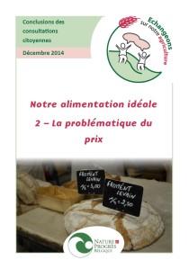 4 - Rapport alimentation idéale - prix